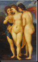 2. Section - The Goddesses with Fornarina - Raphael's 1512 The Judgement of Paris