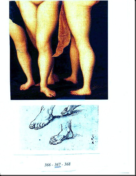 15. Drawing Comparison with Raphael's distinctive rendering of Feet (2)
