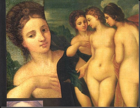 4. The young Fornarina of 1512 and as part of the 3 Goddesses Group original varnish (2)