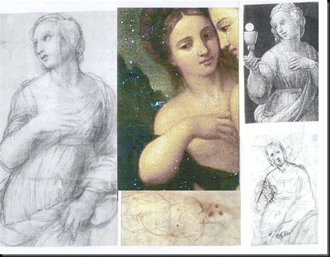 14. Indirectly Related Raphael works and Arm Pose Comparisons (2)