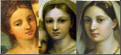 1. Fornarina's 1512 Date Specific physiognomy and its demonstrable concordance with those of her at later ages