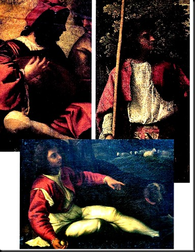 Comparison of Paris's image with contemporary   Figures in 'Poesie' paintings by Titian and Giogione