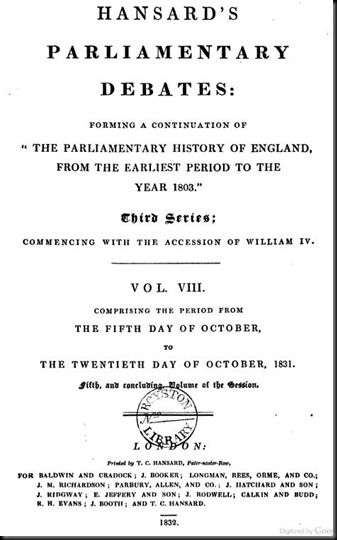 Hansard-1832