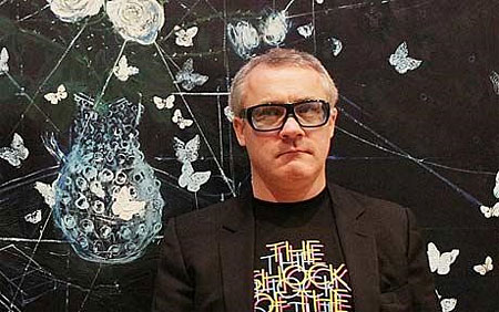 Artist-Damien-Hirst-stands-in-The-Wallace-Collection