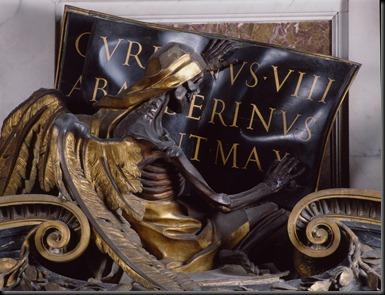 Bernini - Urban VIII tomb - Death