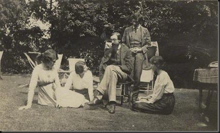 NPG Ax140432; Lady Ottoline Morrell; Maria Huxley (nÈe Nys); Lytton Strachey; Duncan Grant; Vanessa Bell (nÈe Stephen)