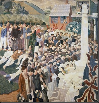 unveiling-a-war-memorial-at-cookham-1921-spencer-stanley-1891-1959-private-collection-the-bridgeman-art-library
