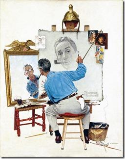 norman-rockwell-triple-self-portrait-1960