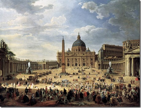 Giovanni_Paolo_Pannini_-_Departure_of_the_Duc_de_Choiseul_from_the_Piazza_di_San_Pietro_-_WGA16982